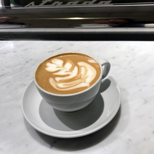 Latte from Milstead Coffee in Seattle, WA