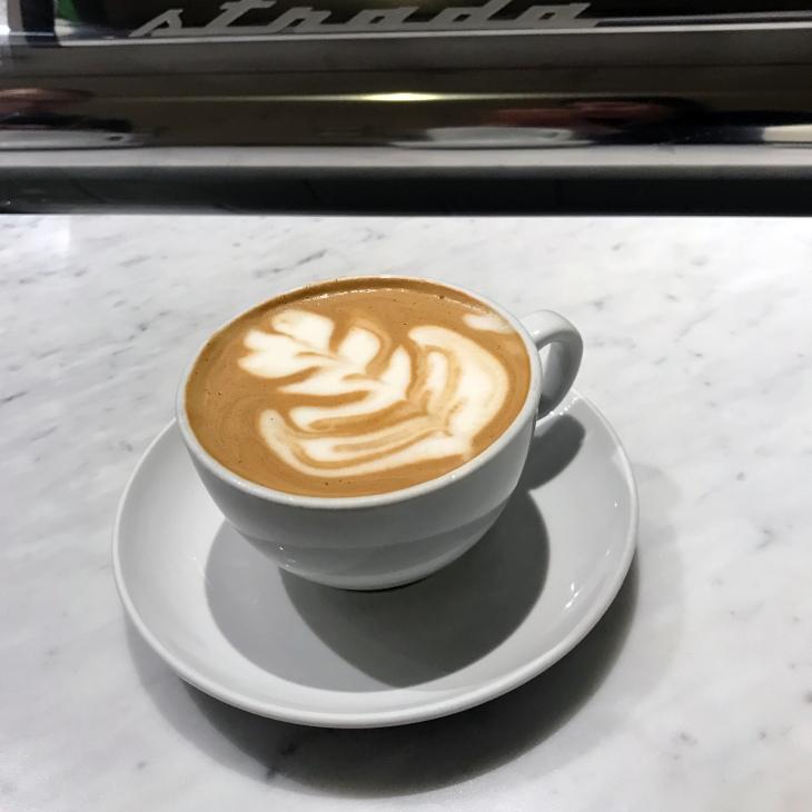 Latte from Milstead Coffee in Seattle, WA