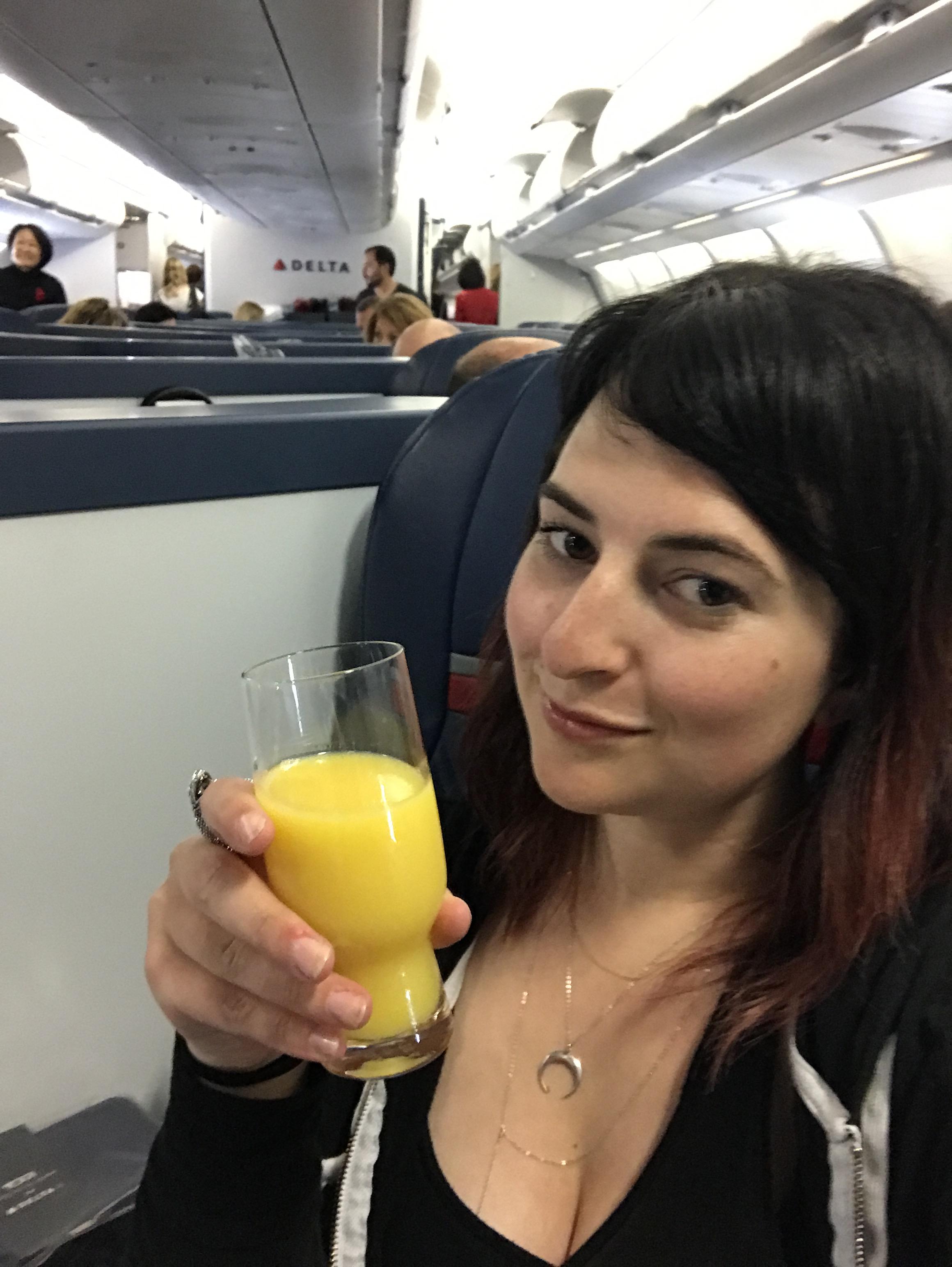 Becca-in-first-class.JPG
