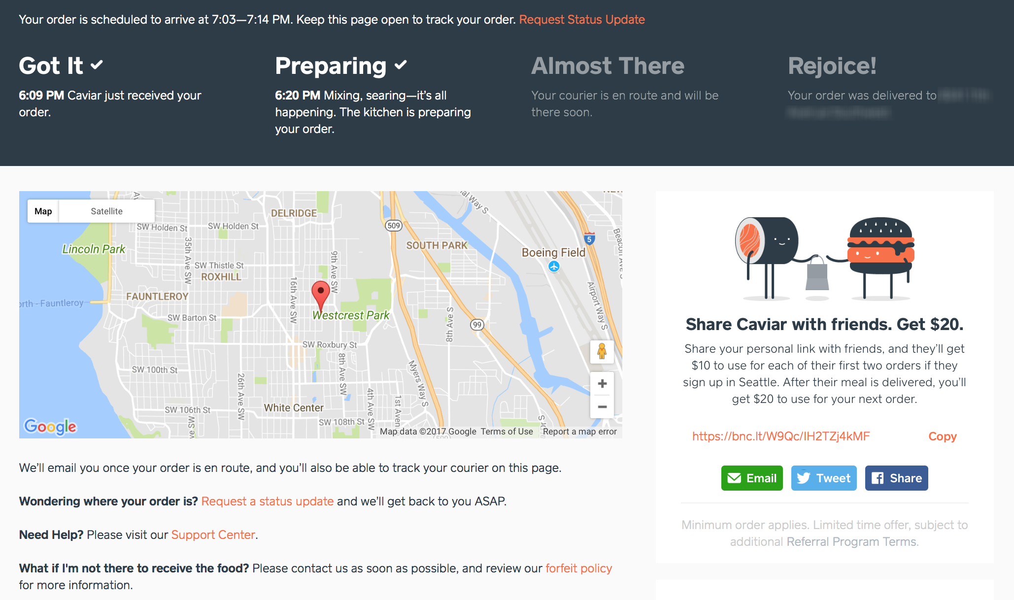Caviar Food Delivery UX Design And Food Review – Becca Risa Luna