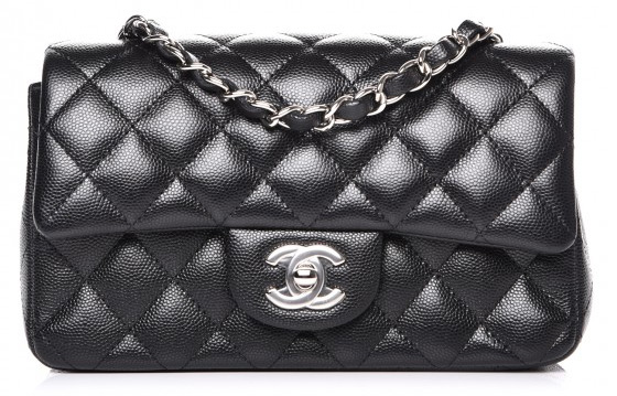 7f7711b6dbed Chanel Caviar Leather New Mini Rectangle Classic Flap Bag