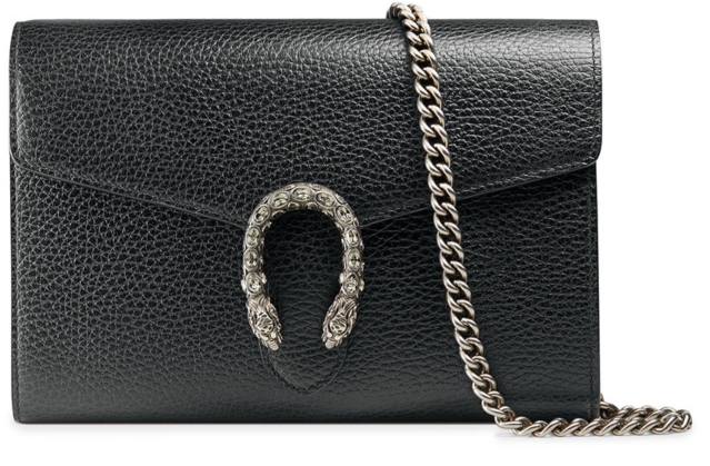 Gucci Black Leather Mini Chain bag