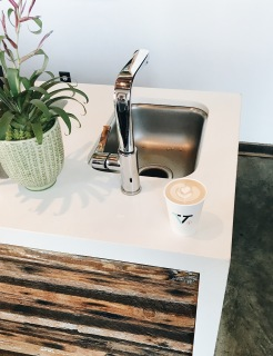 Latte @ Verve Coffee Roasters 1010 Fair Ave | Santa Cruz, California