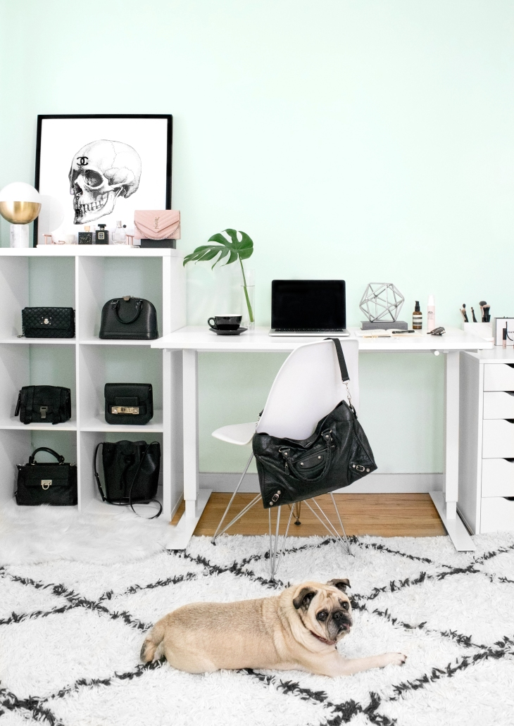 Fashion Home Office Design and Photography by Becca Risa Luna and Pug