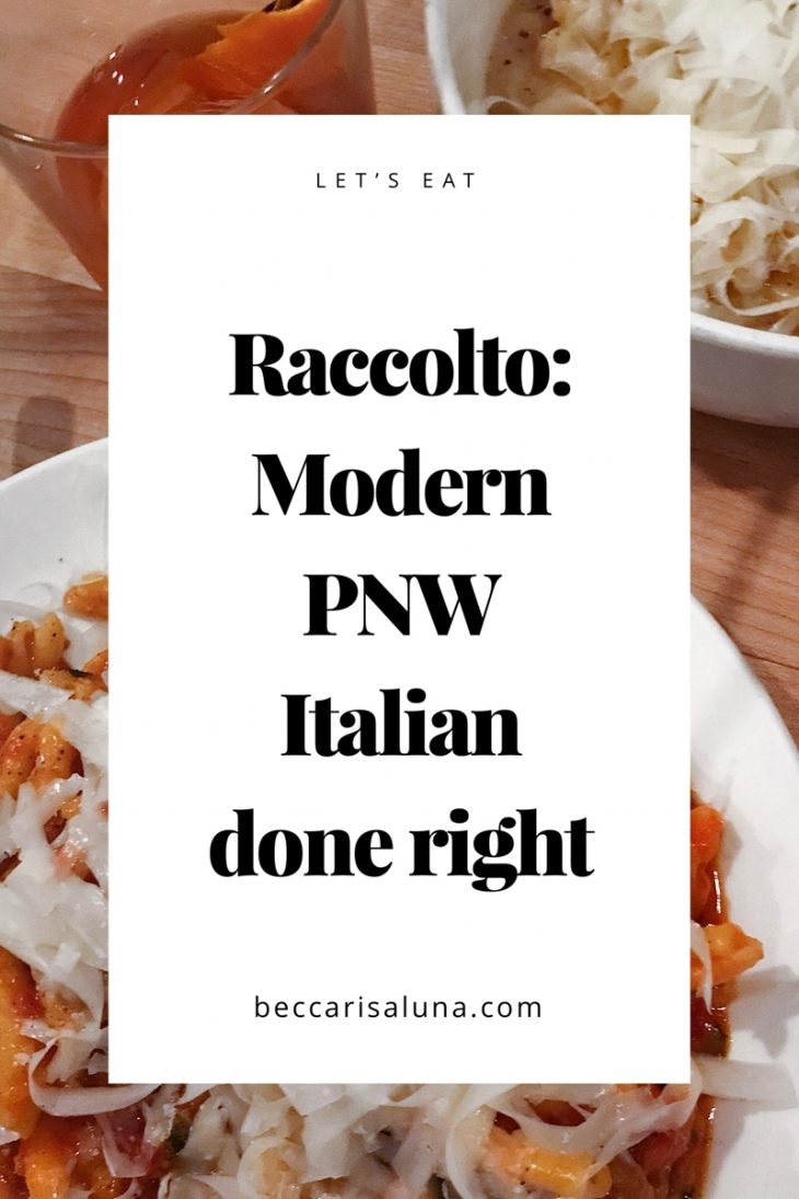 Raccolto the best restaurant in West seattle | beccarisaluna.com
