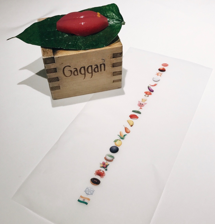 Gaggan Emoji menu and restaurant review from November 2016