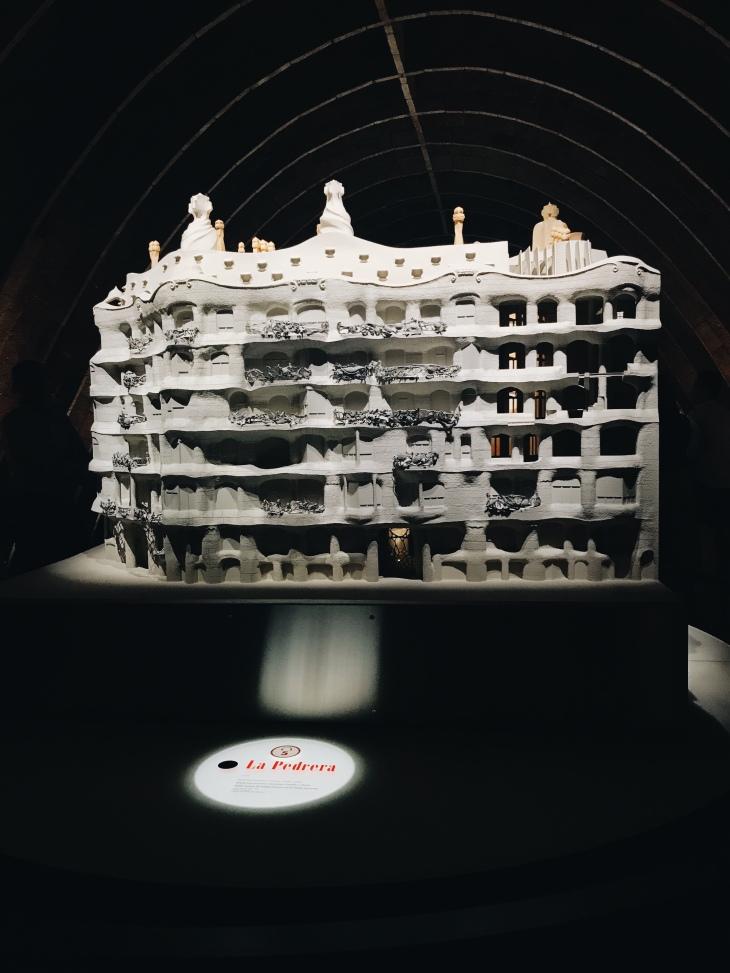 Model of Gaudi's La Pedrera Casa Mila