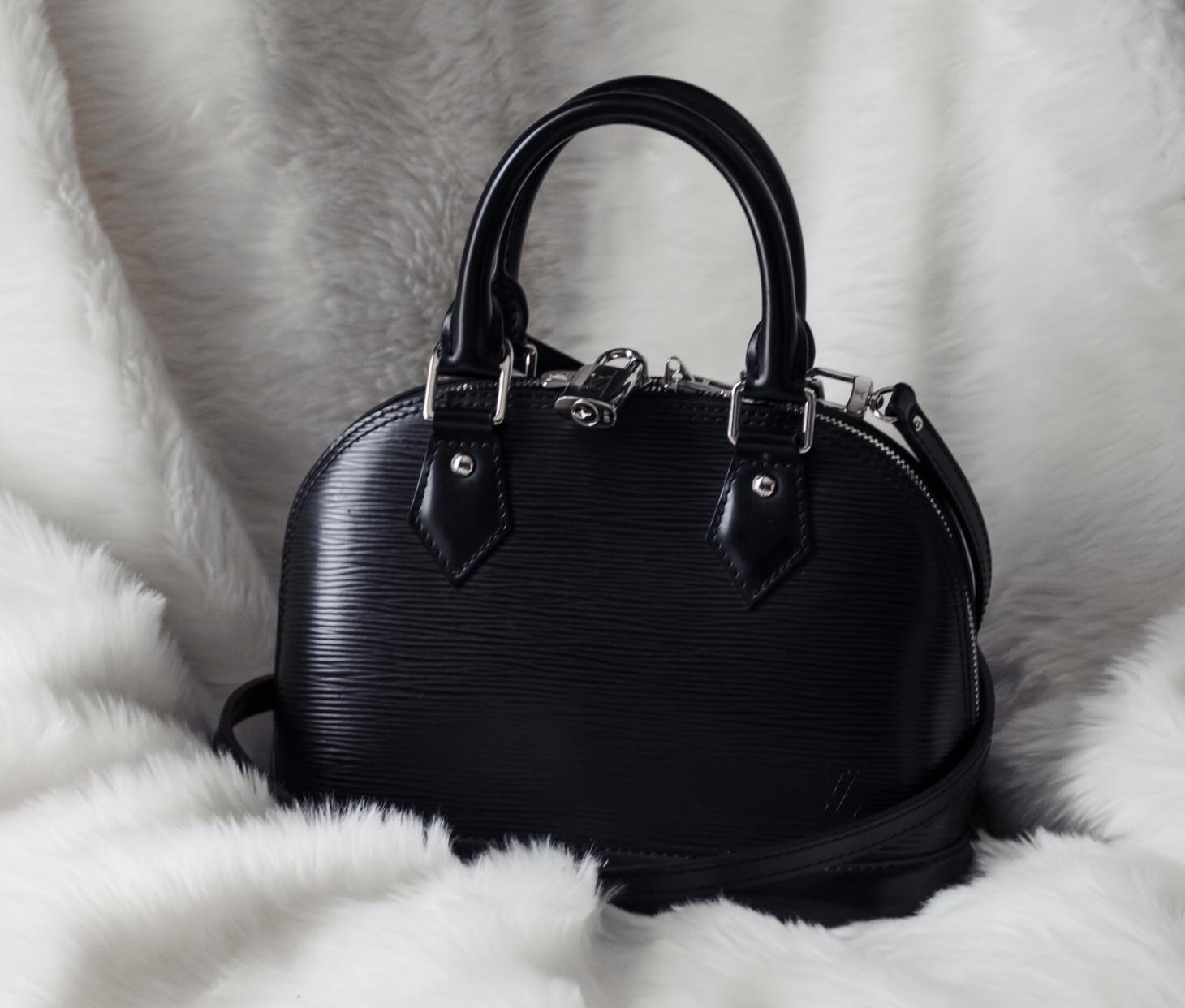fb5b37a5bad Bag Review: Louis Vuitton Black Epi Alma BB – Becca Risa Luna