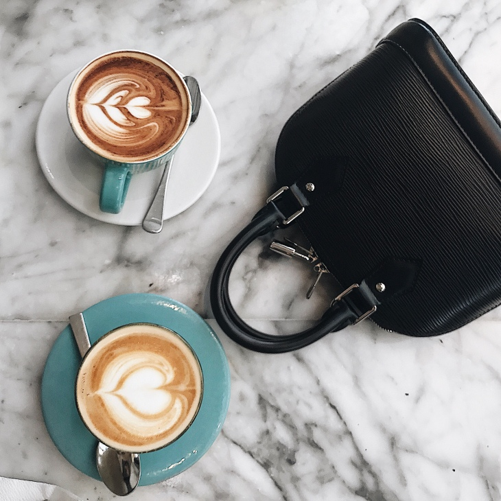 Coffee and Handbags! Louis Vuitton Epi Alma BB Bag Review | BeccaRisaLuna.com