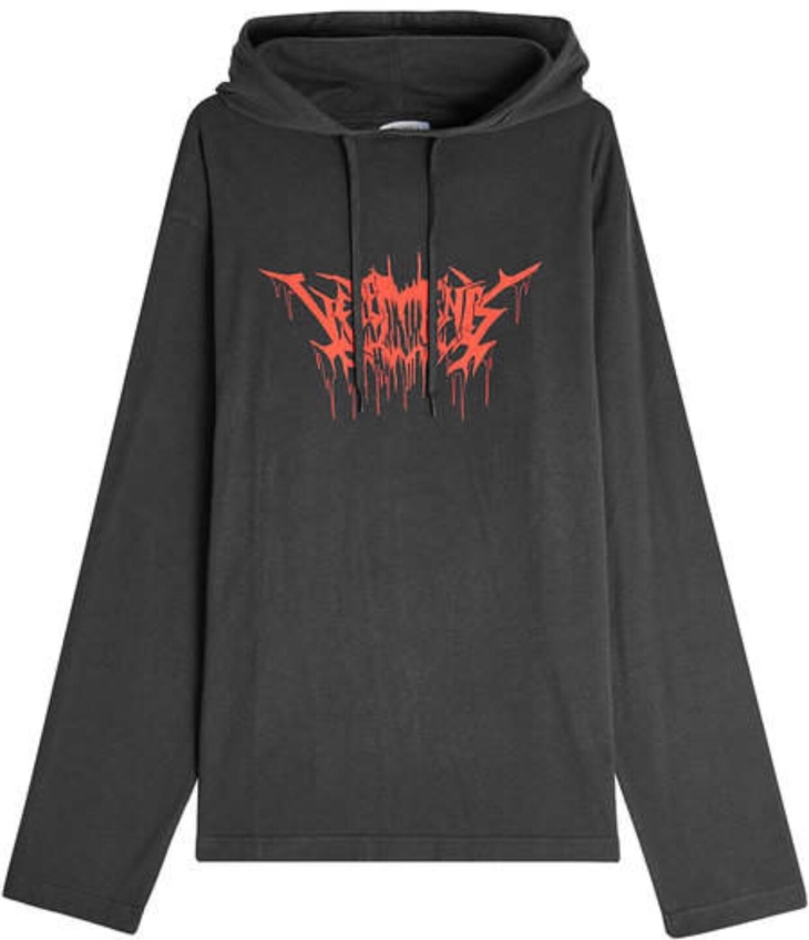 Vetements Printed Cotton Hoodie | Stylebop.com