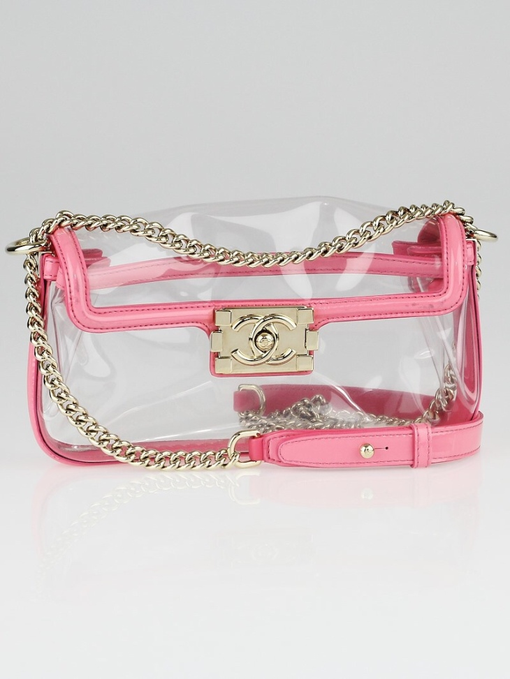 Chanel Clear Vinyl Naked Boy Crossbody Bag | YoogisCloset.com