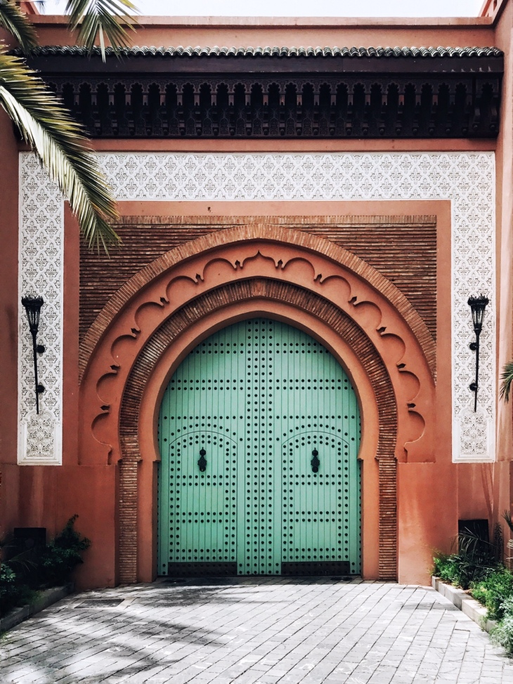 Hotel Mansour front doors in the Medina Marrakesh | travel writer Becca Risa Luna