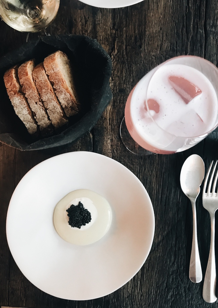 Septime restaurant review | French sturgeon caviar and baguette
