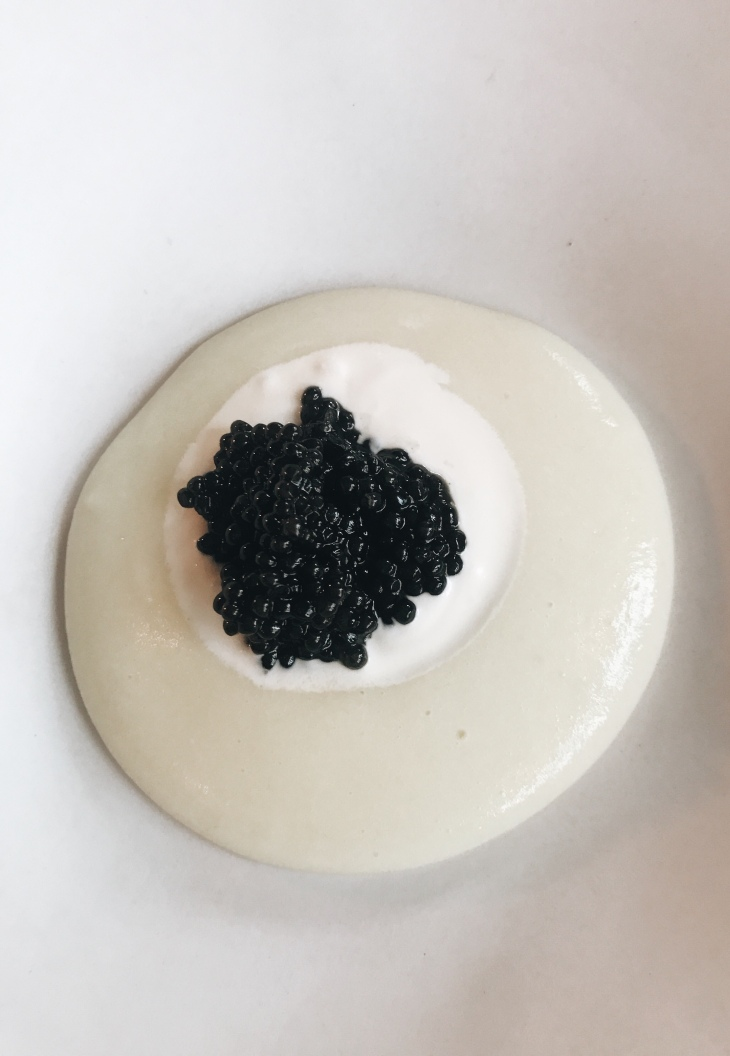 Septime restaurant review | French Sturgeon caviar on potato cream