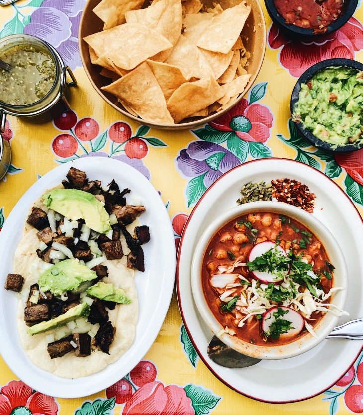 Chips, Pozole, and Tacos at Fonda La Catrina in Seattle