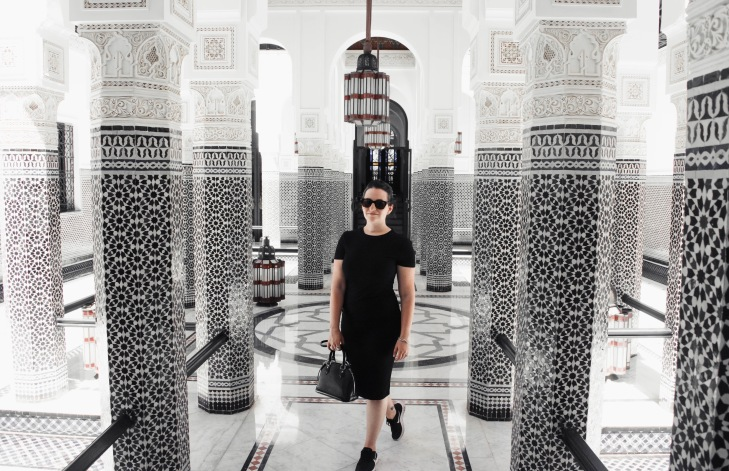 Fashion Blogger at La Mamounia in Marrakech, Morocco