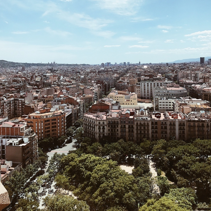 View of Barcelona city