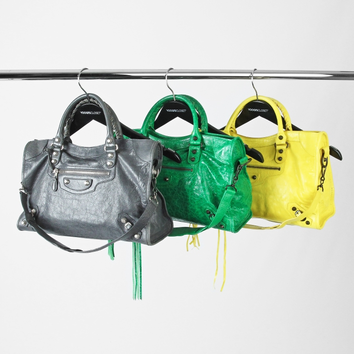 Balenciaga City Bags on retail hanger