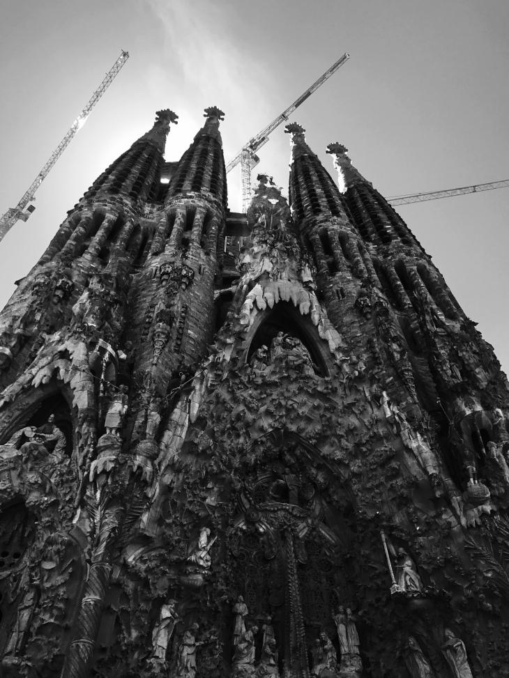 La Sagrada Familia Church by Antoni Gaudi (Barcelona, Spain)