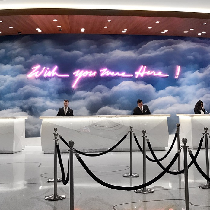 Palms Casino Wish You Were Here Neon Sign