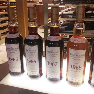 Macallan Bottles at Scotch 80 Prime Las Vegas