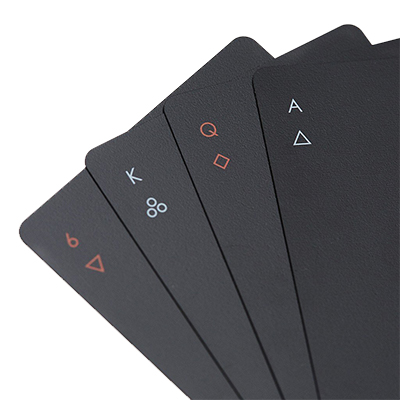 Areaware Minimal All Black Playing Cards