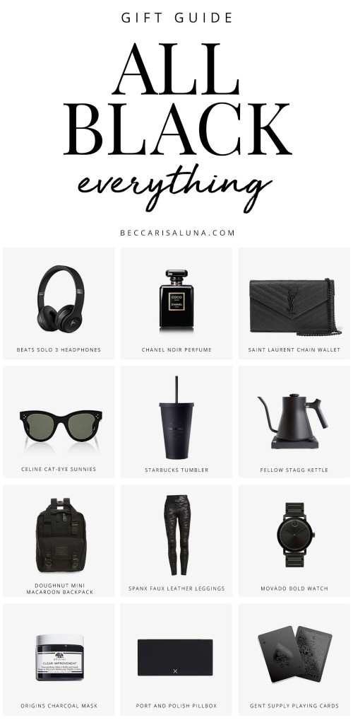 All Black Everything Gift Guide for Women